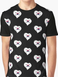 South Korean Flag - South Korea - Heart Graphic T-Shirt