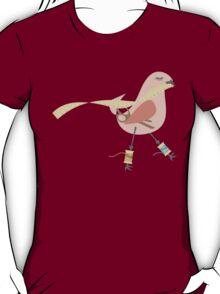 Seamstress bird sewing measuring tape pink T-Shirt