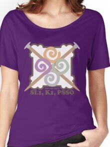 Secret code knitting needles yarn emblem Women's Relaxed Fit T-Shirt