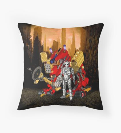 Upgraded Dalek with the robot master Throw Pillow