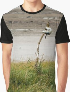 Kestral On A Motorcycle Helmet On A stick Graphic T-Shirt