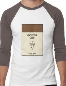 Goron City Monopoly (The Legend of Zelda) Men's Baseball ¾ T-Shirt