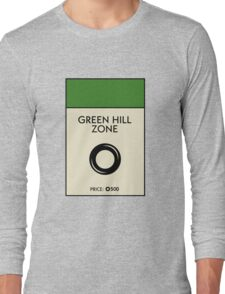 Green Hill Zone Monopoly (Sonic the Hedgehog) Long Sleeve T-Shirt
