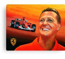 Michael Schumacher painting Canvas Print