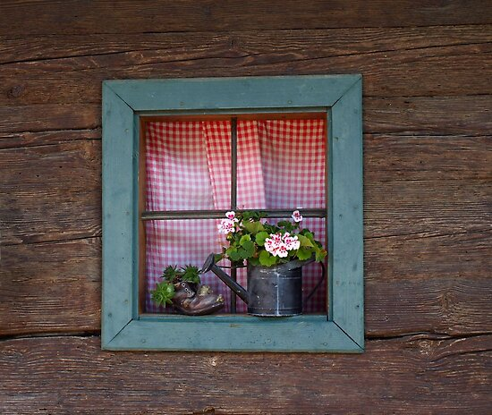 A Farm House Window. by Lee d'Entremont