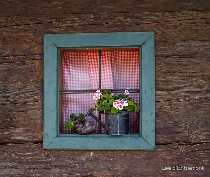 A Farm House Window. by Lee d'Entremont