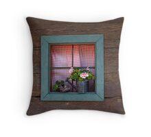 A Farm House Window. Throw Pillow