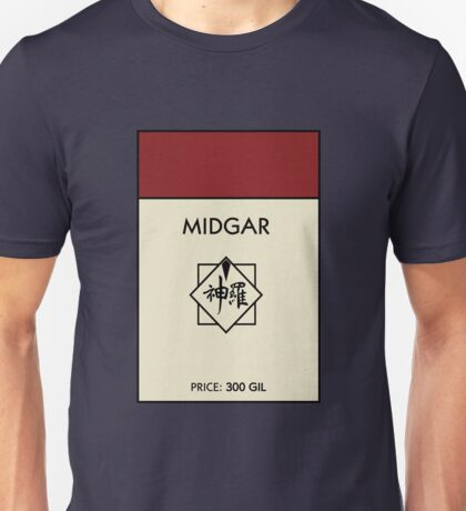 Midgar Monopoly (Final Fantasy VII) Unisex T-Shirt