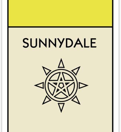 Sunnydale Monopoly (Buffy the Vampire Slayer) Sticker