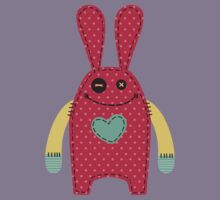 Stuffed bunny rabbit doll sewing stitches Kids Tee