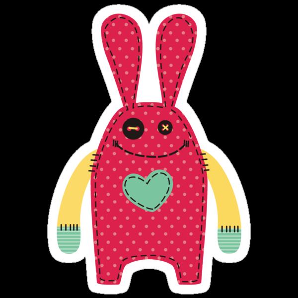 Stuffed bunny rabbit doll sewing stitches by BigMRanch
