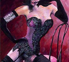 Burlesque Icon Dita Von Teese by mantonart