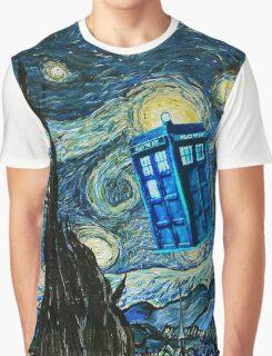 British Blue phone box painting Graphic T-Shirt