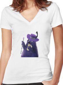 Grimace Pimp Women's Fitted V-Neck T-Shirt