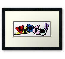 90s Super Graphic Design Framed Print