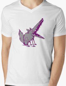 DIER WOLF Mens V-Neck T-Shirt