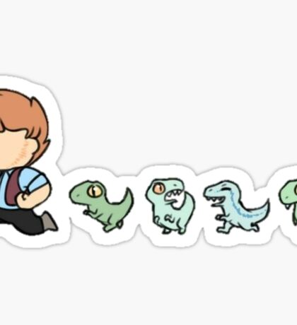 Chris and His Dinosaurs Sticker