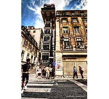 Going up!? - Lisbon, Portugal Photographic Print