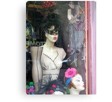 'Fifties Fashion in the Village Metal Print