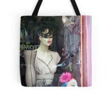 'Fifties Fashion in the Village Tote Bag