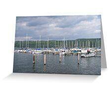 Seneca Harbor Boats Greeting Card