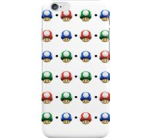 Mario Mushrooms iPhone Case/Skin