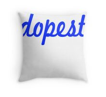 Dopest-Blue Throw Pillow