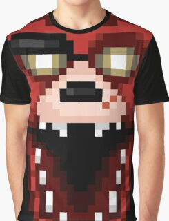 Five Nights at Freddy's 1 - Pixel art - Foxy Graphic T-Shirt