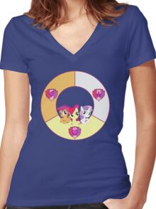 Cutie Mark Crusaders Women's Fitted V-Neck T-Shirt