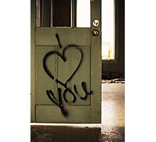 door to your heart Photographic Print