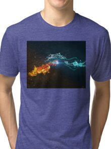 Omniblade versus Plasma Sword Tri-blend T-Shirt
