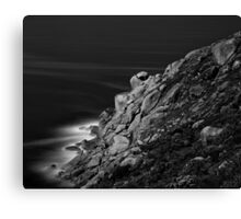 Bluff Rocks at Night Canvas Print