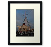 Fourth of July on the Queen Mary Framed Print