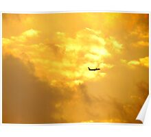 Golden flight, New York City  Poster