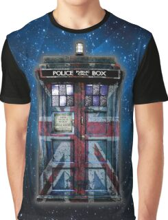 British Union Jack Space And Time traveller Graphic T-Shirt