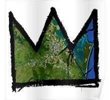 "Basquiat ""King of Brisbane Australia"" Poster"