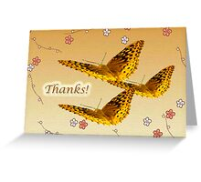 Thank You Greeting Card - Great Spangled Fritillary Butterfly  Greeting Card