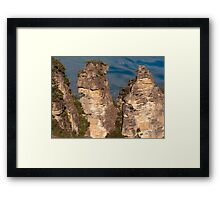 """Up Close & Personal at the """"Three Sisters"""" Framed Print"""