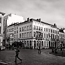 Crossing Luxembourg Square - Brussels by Norman Repacholi