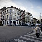 Walking with Mum - Brussels by Norman Repacholi
