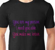 Meredith Cristina brave Unisex T-Shirt