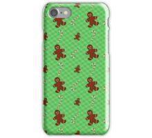 Gingerbread Men & Candy Cane Pattern iPhone Case/Skin