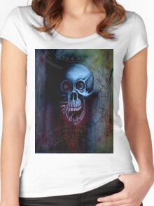 Occult Skull I Women's Fitted Scoop T-Shirt