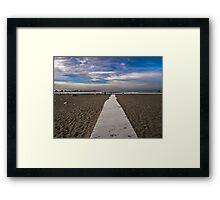 Sumner Beach New Zealand Framed Print