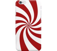 Red and White Peppermint Swirl  iPhone Case/Skin
