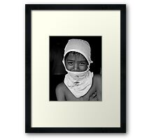 Slum Boy Framed Print