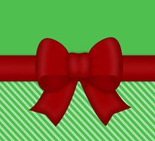 Red Holiday Bow by runninragged