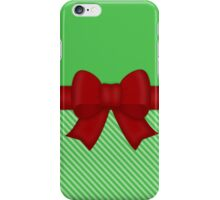 Red Holiday Bow iPhone Case/Skin
