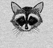 Raccoon Face on Grey Unisex T-Shirt