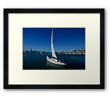 Leaving the Marina Framed Print